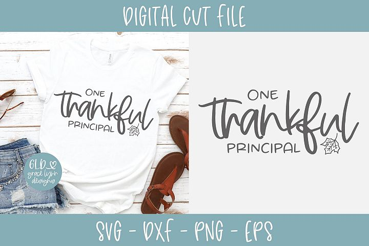 One Thankful Principal - SVG