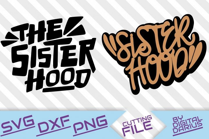 2x The Sister Hood svg, Afro woman ,Graffiti, Dripping words