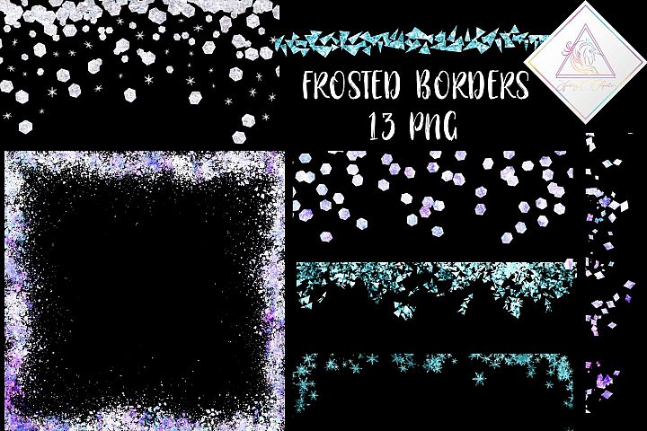 Frosted Borders Clipart