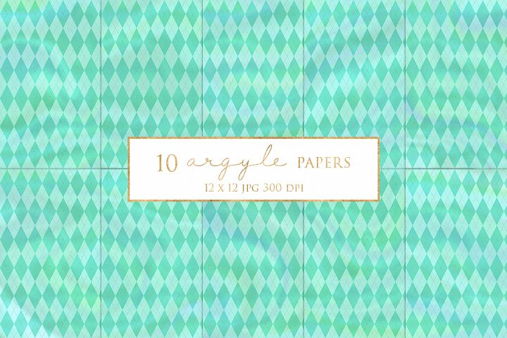 10 Pretty Argyle Magical Digital Papers