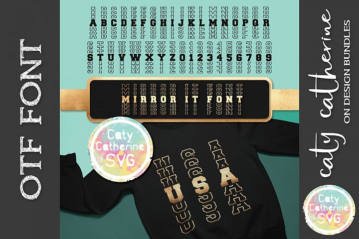 Mirror It Font Mirrored Letters Sports OTF Font