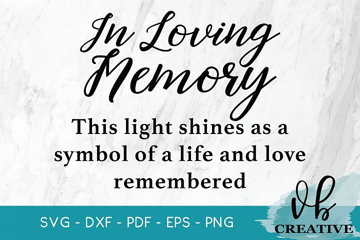 In Loving Memory SVG for Candles