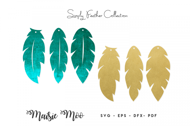Feather Earring Templates | Feather Earring SVG |