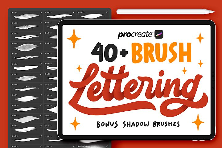 40 Procreate Lettering Brushes