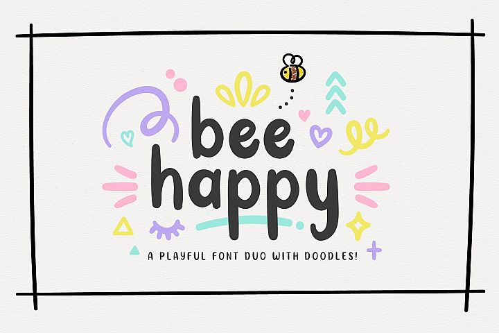 INTRO OFFER! BeeHappy Font Duo