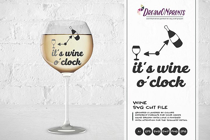 Its Wine OClock SVG - Wine SVG