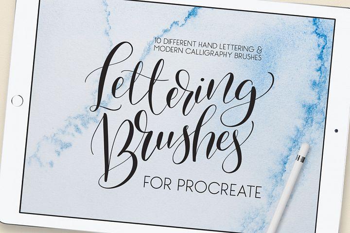 Lettering Brush Pack for Procreate
