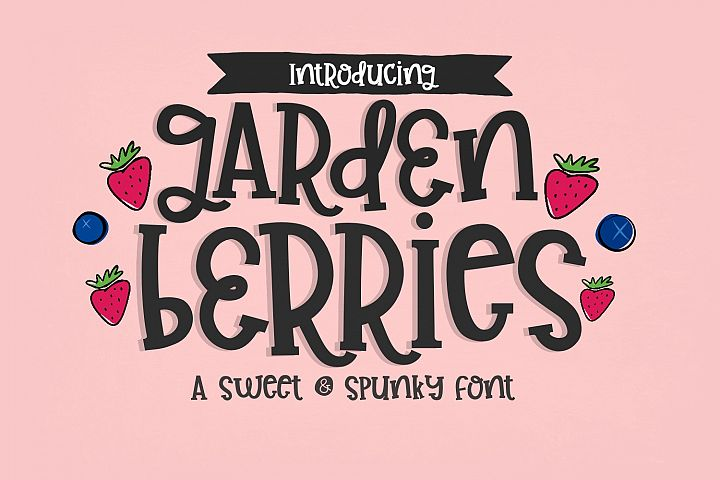 Garden Berries Handwritten Font