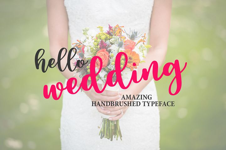 Hello Wedding - Free Font of The Week Design 5