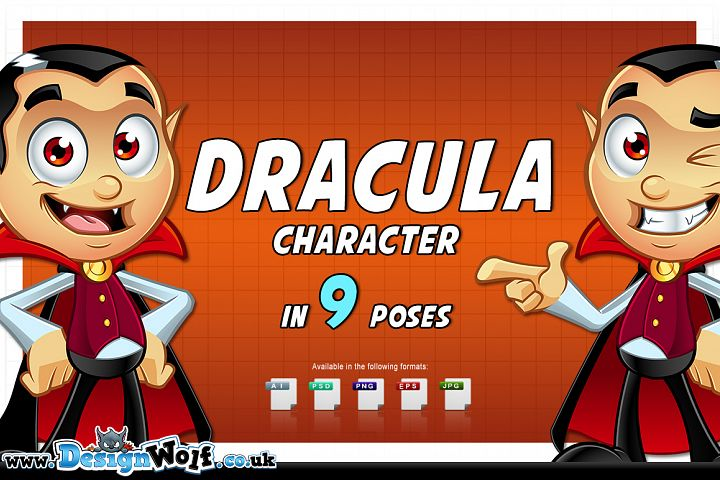 Dracula Character - In 9 Poses