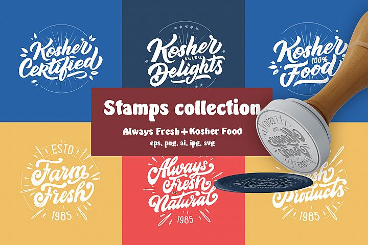 Food stamps lettering set