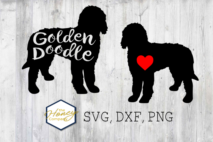 Golden Doodle SVG PNG DXF Dog Breed Lover Cut File Clipart