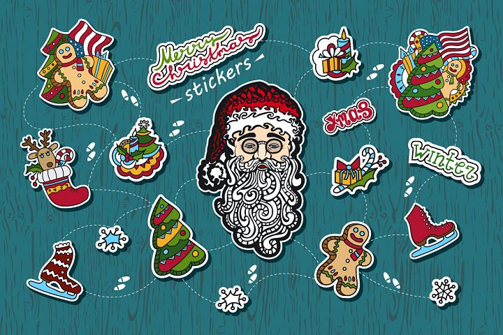 Christmas stickers.