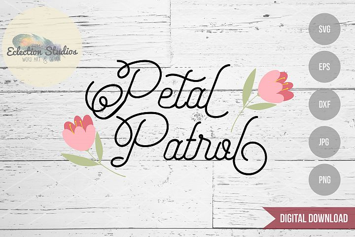 Petal Patrol SVG Flower Girl Wedding Design