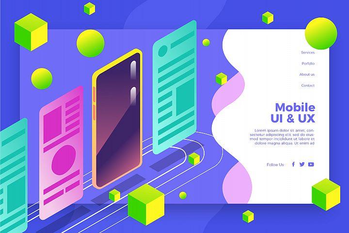UI UX Mobile - Banner & Landing Page