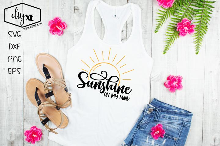 Sunshine On My Mind - A Beach SVG Cut File