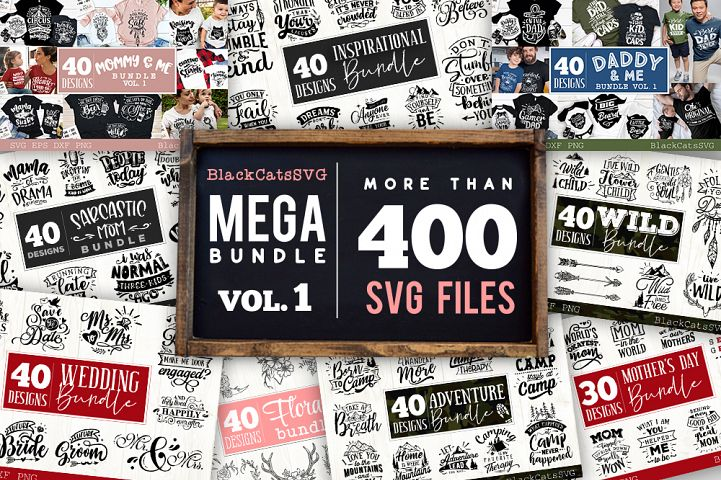 Mega Bundle 400 SVG designs vol 1