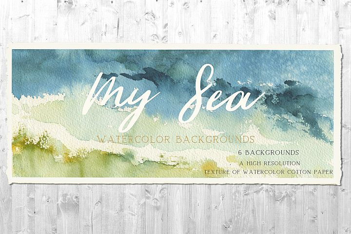 My Sea Watercolor Background Set
