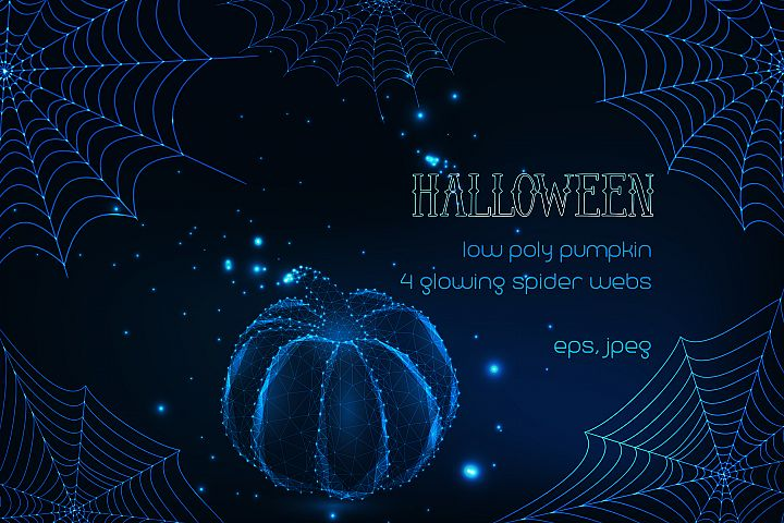 Halloween. Glowing vector design