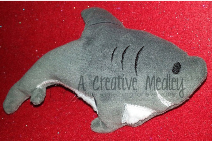 Stuffed plush toy shark