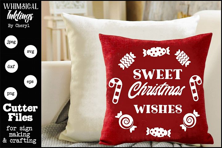 Sweet Christmas Wishes-Circle SVG