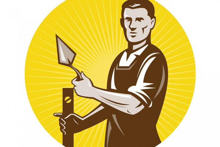 bricklayer mason plasterer worker