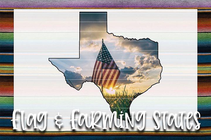 Flag & Farm TX Sublimation Digital Download