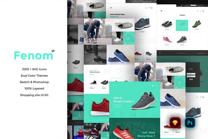 Fenom Shopping Website UI Kit