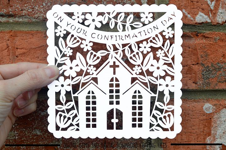 Confirmation paper cut SVG / DXF / EPS files