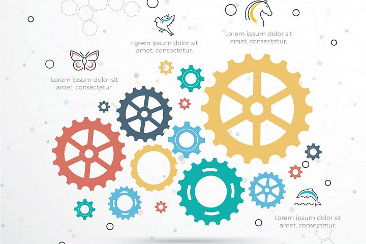 Gear Infographic vector design.