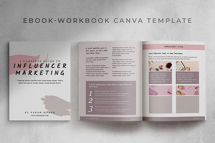 eBook-Workbook Hybrid Canva template | Sandy