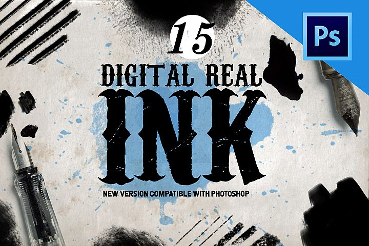 Real Ink Brushes for Photoshop