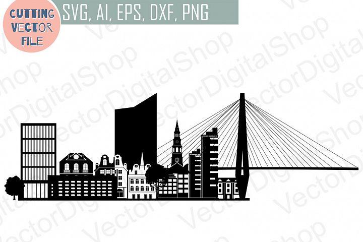 Charleston Skyline Vector, South Carolina USA city, SVG, JPG, PNG, DWG, CDR, EPS, AI