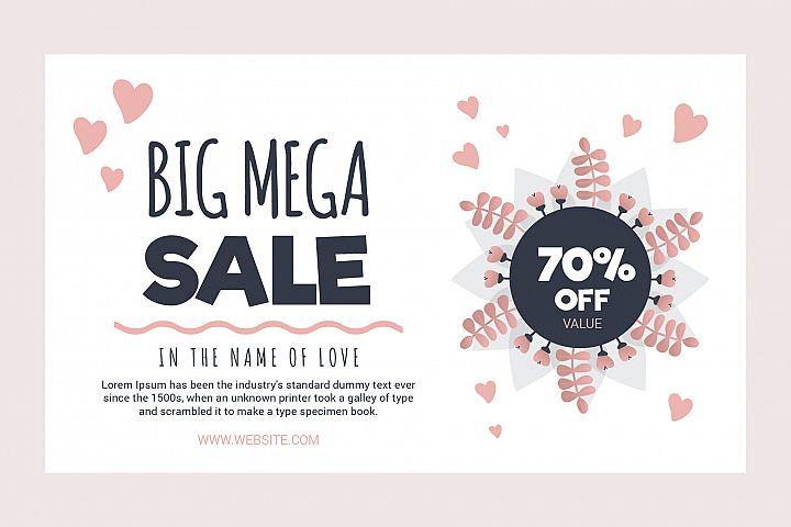 Love sale banner - voucher