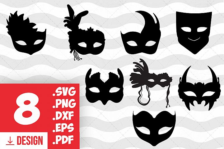 Ball mask silhouette masquerade mask svg face mask eye mask