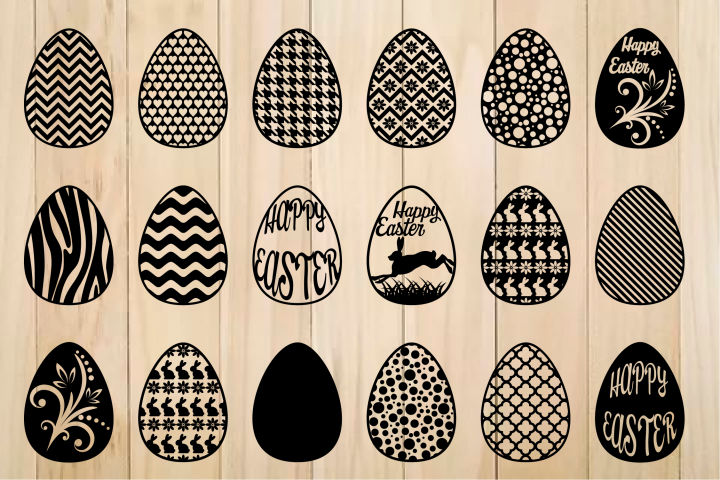 Easter Egg svg, Patterned Easter Eggs,Happy Easter