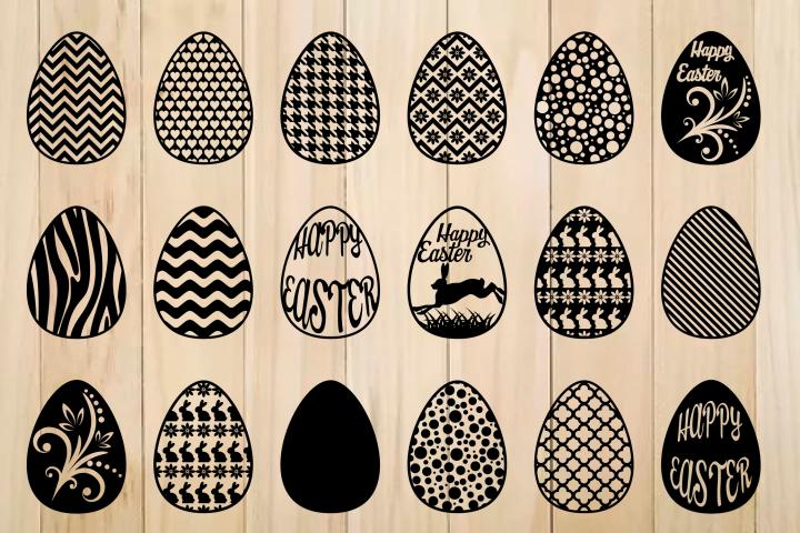 Easter Egg svg, Patterned Easter Eggs,Happy Easter