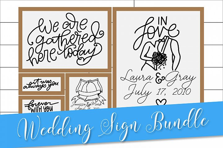 Wedding Mini Bundle - Personalize A Wedding Sign!