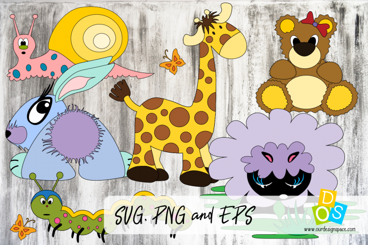 Cute Animals SVG, PNG and EPS files