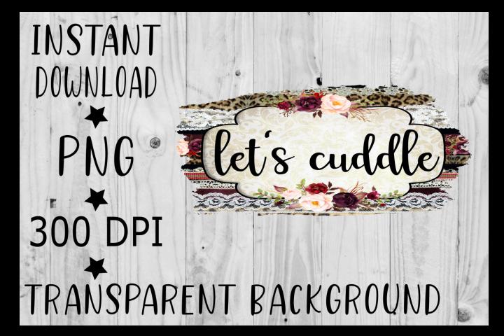 Lets Cuddle Clipart, PNG, Digital Download