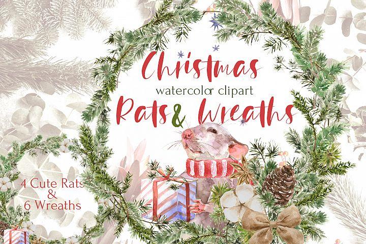 Christmas Rats & Wreaths