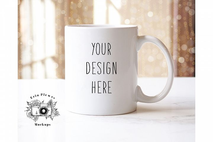 11oz White Coffee Mug Mockup | JPEG Format