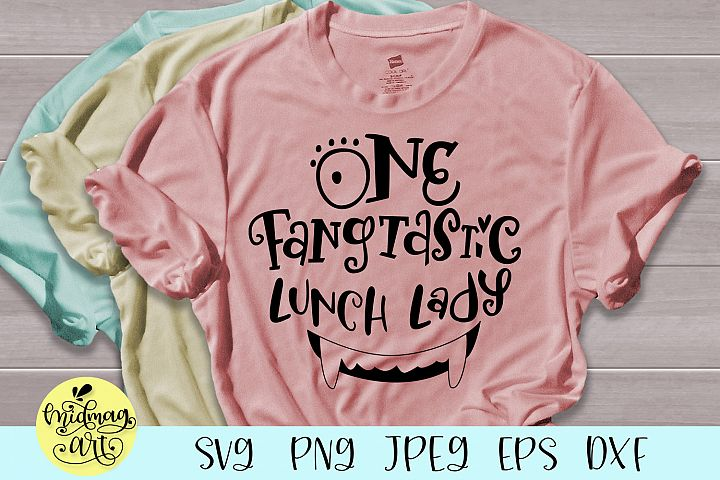 One fangtastic lunch lady svg, lunch lady halloween svg