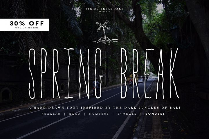 Spring Break Font & Bonus Graphics