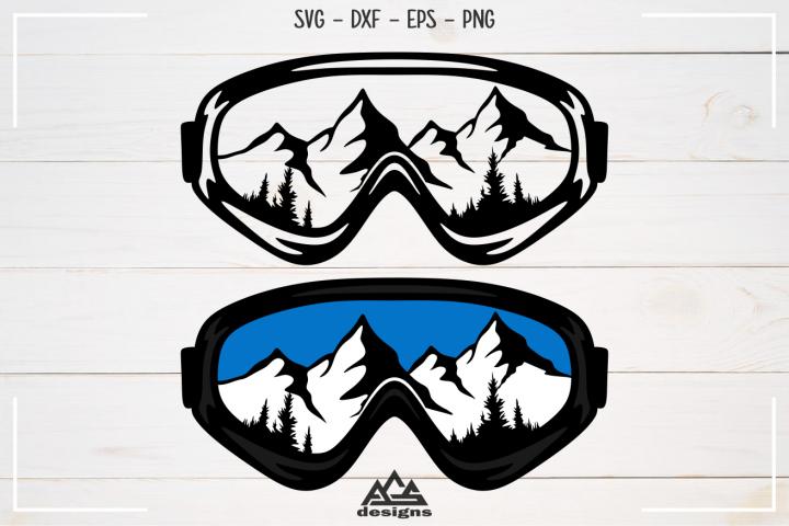 Ski SnowBoard Googles Sport Svg Design