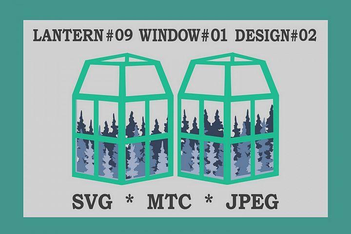 Multi-Layer Forest 01 3D Paper Lantern 09 Design 02 Cut File