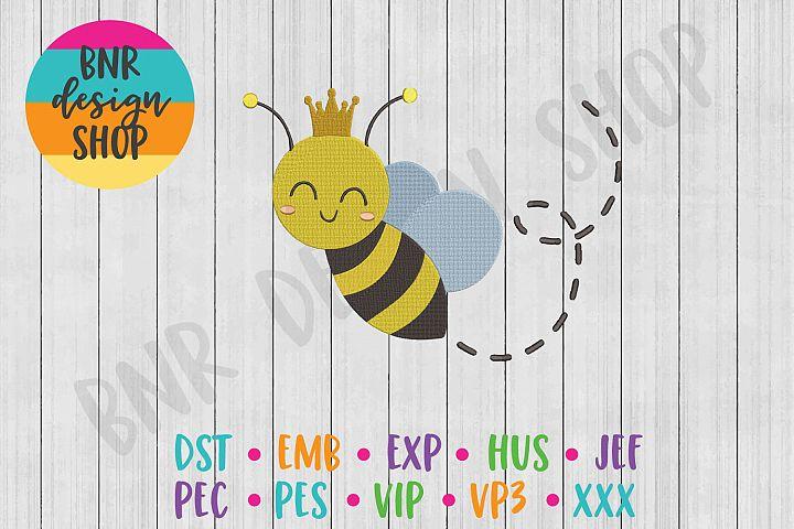 Queen Bee Machine Embroidery Design