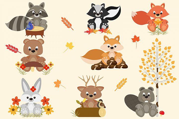 Fall Woodland Friends