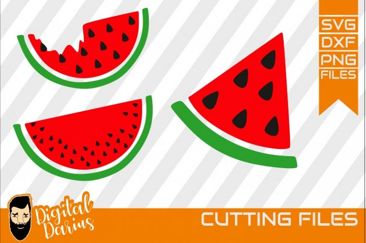 3x Watermelon svg, Fruit svg, cricut, silhouette, Digital