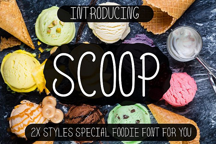 Scoop - Delicious Handdrawn Font